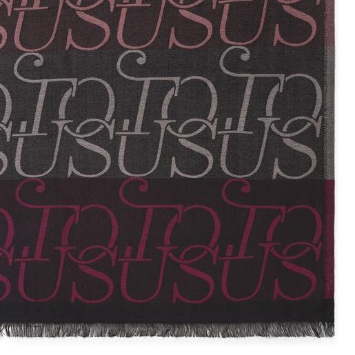 TOUS Spinel-Foulard Jacquard in Fuchsia und Schwarz