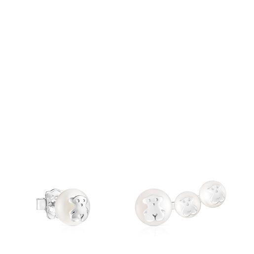 Ohrringe Icon Pearl aus Silber mit Perle
