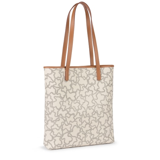 Sand-black colored Canvas Kaos New Total Shopping bag