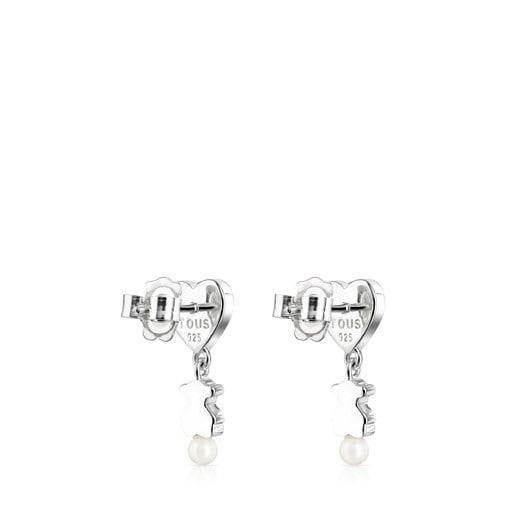 Boucles d'oreilles Real Sisy courtes en Argent et Perles