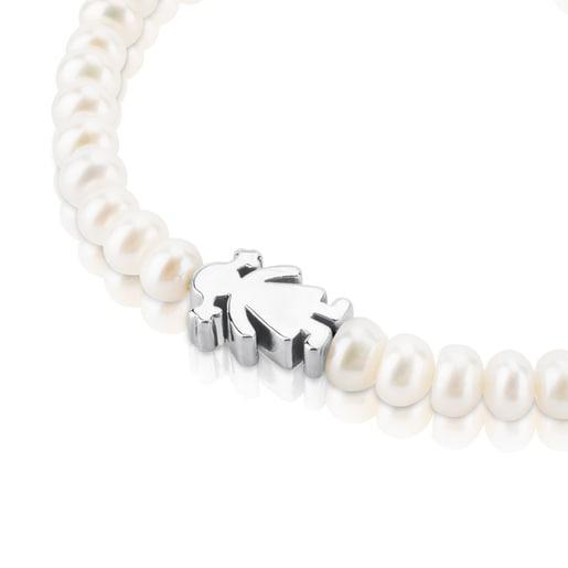 Pearl Sweet Dolls girl Bracelet with Silver