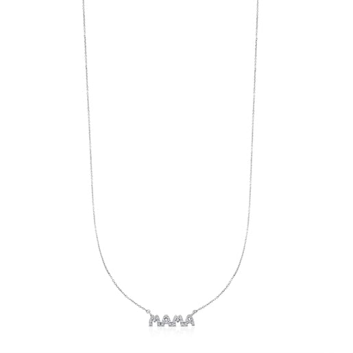 White Gold TOUS Mama Necklace with Diamond