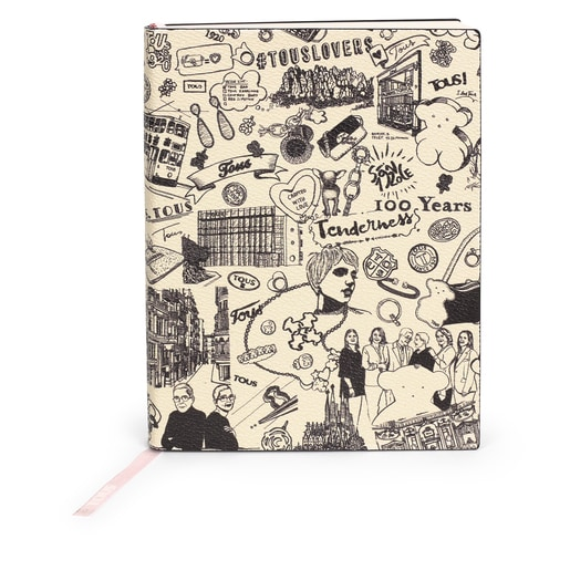 Tous Centenary notebook black and white