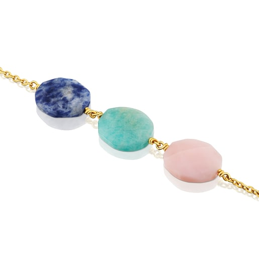 Vermeil Silver Terra Bracelet with Sodalite, Amazonite and Opal