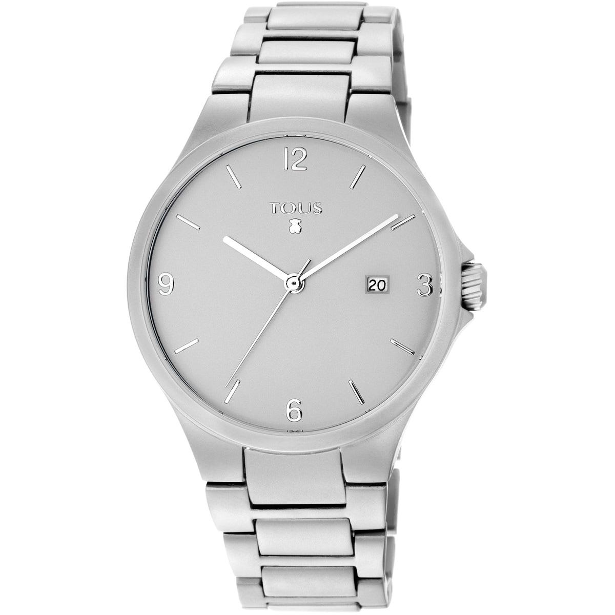Reloj Motion Aluminio de aluminio anodizado plateado