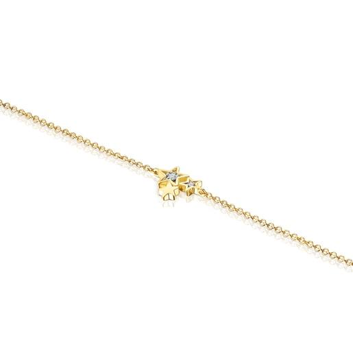 BraçaletTeddyBearStarsd'or i diamants