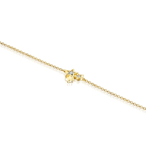 Bracelet Teddy Bear Stars en Or et Diamants