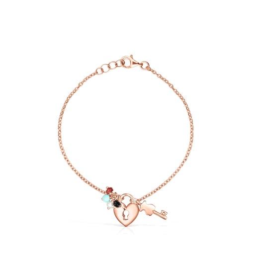 San Valentín Rose Vermeil Bracelet with Gemstones - Online Exclusive