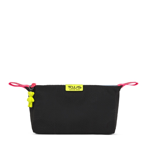 Medium black and multicolored Ina Toiletry bag