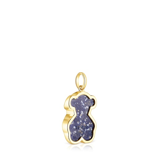 Silver Vermeil TOUS Good Vibes bear Pendant with Gemstones