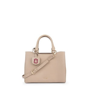 Small taupe Leather Odalis City bag