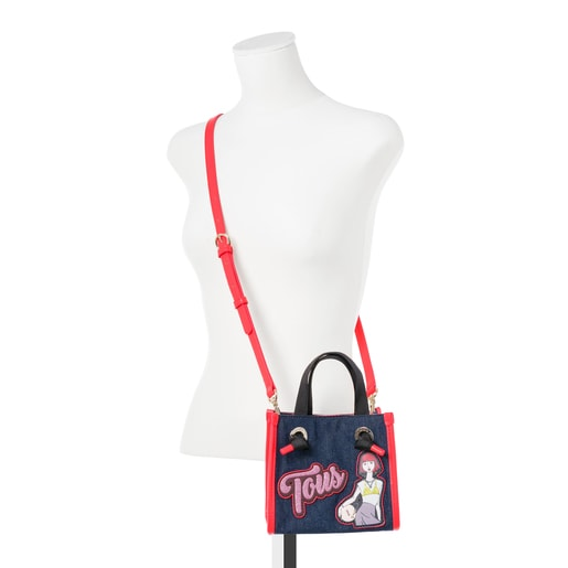 Μικρή τσάντα για Ψώνια Amaya σε ντένιμ χρώμα