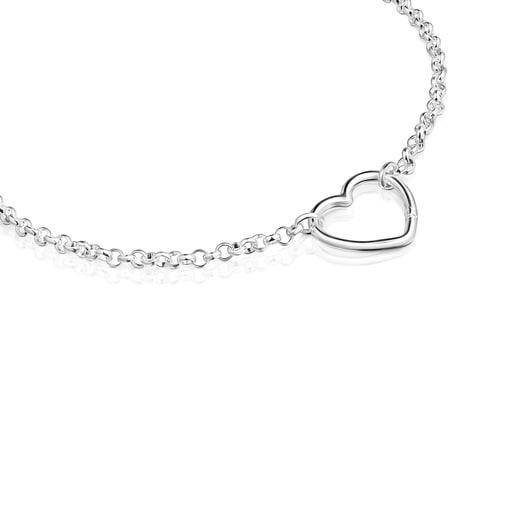Collar oval Hold corazón de Plata