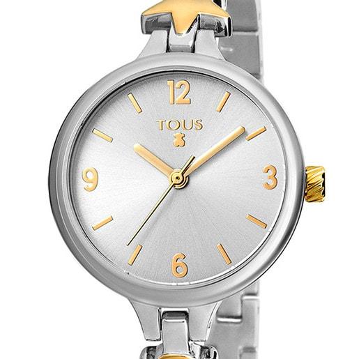 Two-tone Dreamy watch in gold IP steel