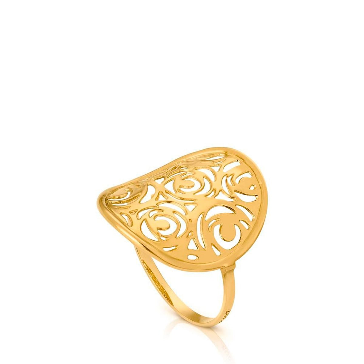 Gold Rosa d'Abril Ring