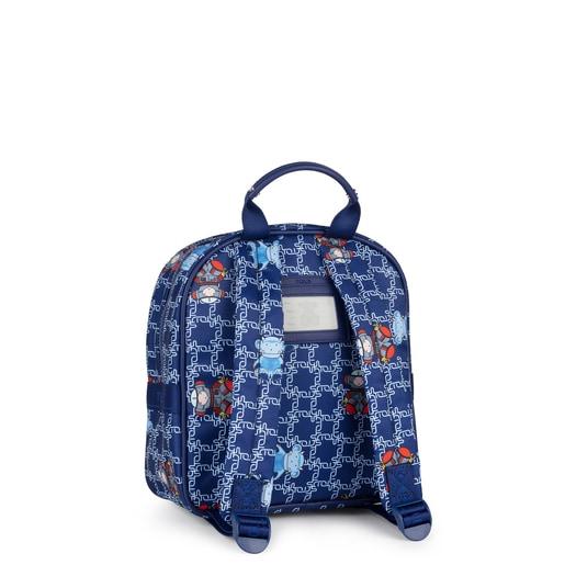 Small blue School Logogram Backpack