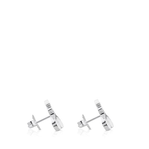Σκουλαρίκια Twist από ασήμι