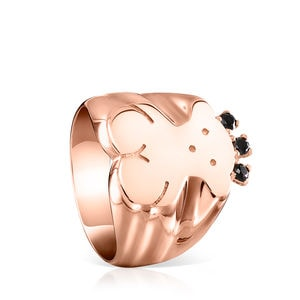 Rose Gold Vermeil Real Sisy Ring with Spinels