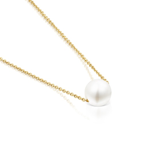 Collar Gloss de plata vermeil y perla