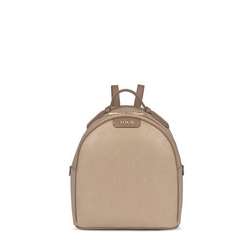 Taupe colored Script Day Backpack