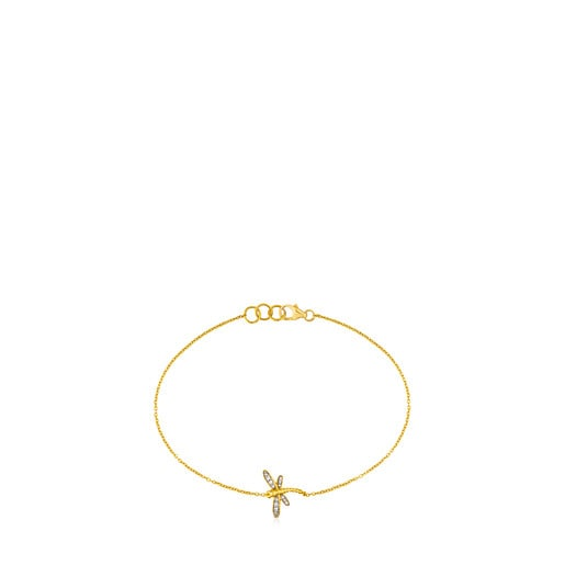 TOUS Bera Bracelet in Gold with Diamonds.