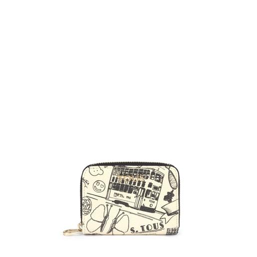 Medium beige and black TOUS Centenary change purse