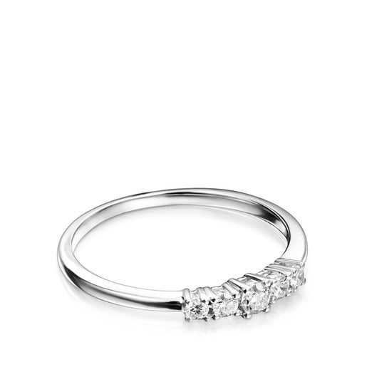 Anell Riviere d'Or blanc amb Diamants