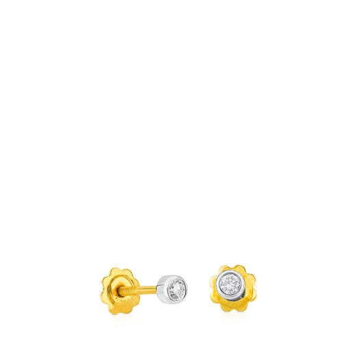 Aretes TOUS Diamonds de Oro blanco