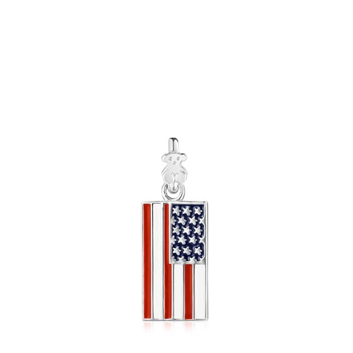 Silver and Enamel US Pendant