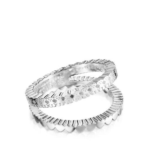 Doppelter Ring Straight aus Silber