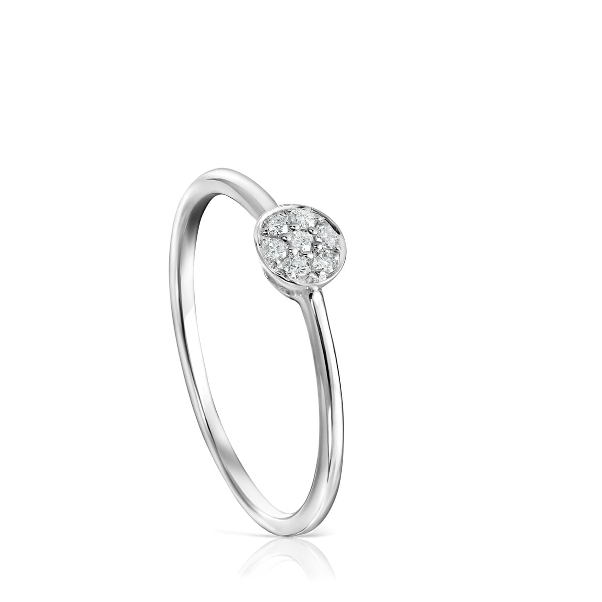 Anillo Alecia de Oro blanco con Diamantes