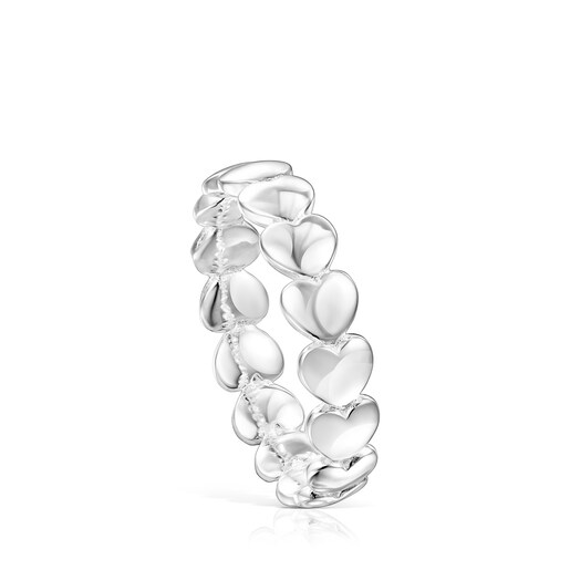 Silver Mini Icons heart Ring