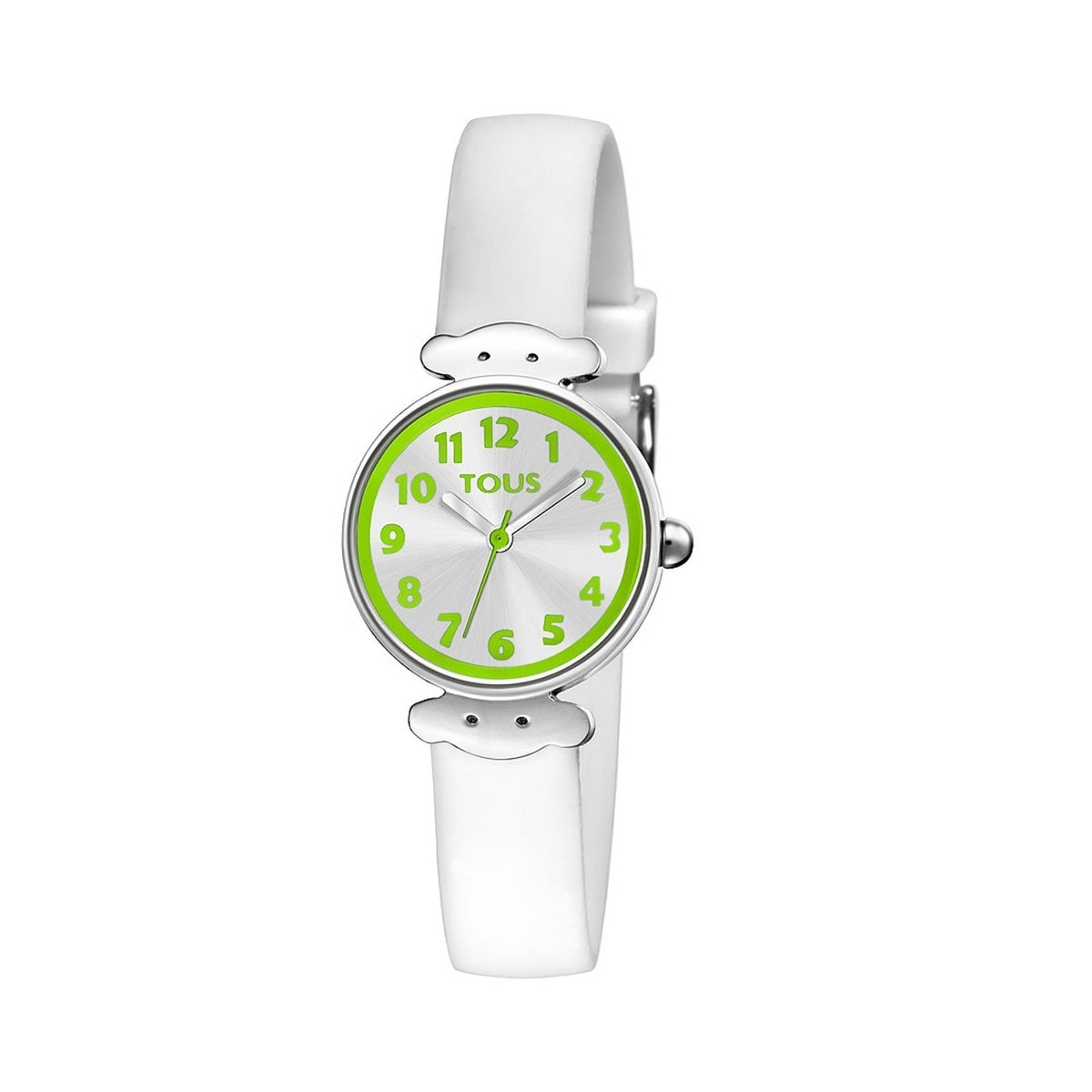 Steel Wink Watch with white Silicone strap
