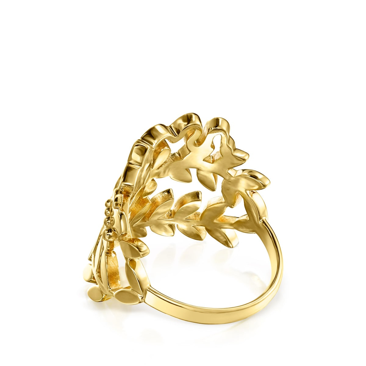 Gold Vermeil Real Mix Leaf Ring