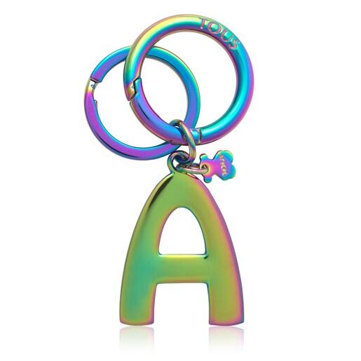 Iridescent Touscedario Letter A Key ring