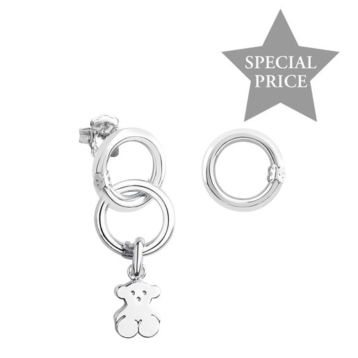 Silver Hold Earrings Set