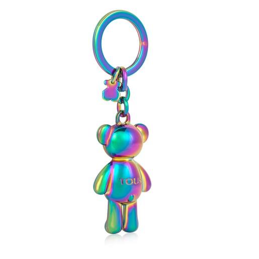 Iridescent Teddy Bear bear Key ring