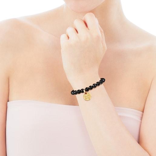 Armband TOUS Good Vibes Mama aus Vermeil-Silber mit Schungiten