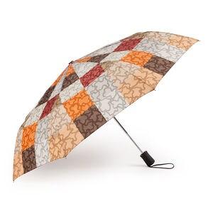 Paraigües plegable Kaos Cuadrados de color taronja-marró