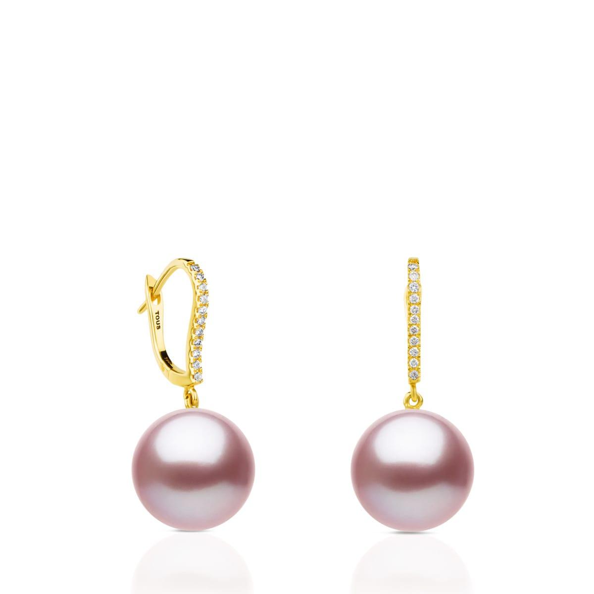 3cb62bfe1459 Pendientes ATELIER Novias de Oro con Perlas y Diamantes - Sitio web ...