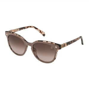 Beige Metal and Acetate Pantos Pearl Sunglasses