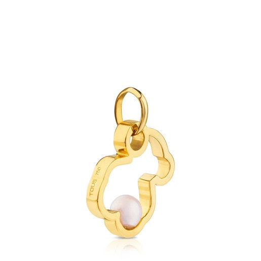 Colgante Silueta de Oro con Perla