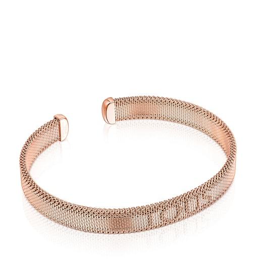 Armband Mesh aus IP-Stahl in Rosa