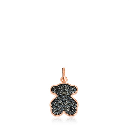 Rose Vermeil Silver Motif Pendant with Spinel