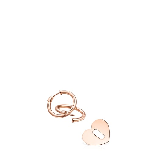 Herz-Ohrringe  Hold Metal aus Vermeil-Roségold
