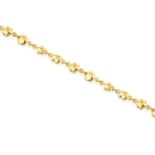 Halskette Mini Icons aus Vermeil-Silber