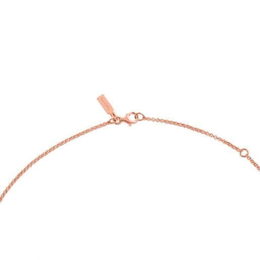 Gargantilla Hand de plata vermeil rosa, 45cm.