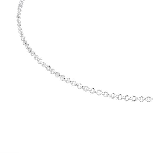 Gargantilla TOUS Chain de plata con anillas redondas, 40cm.
