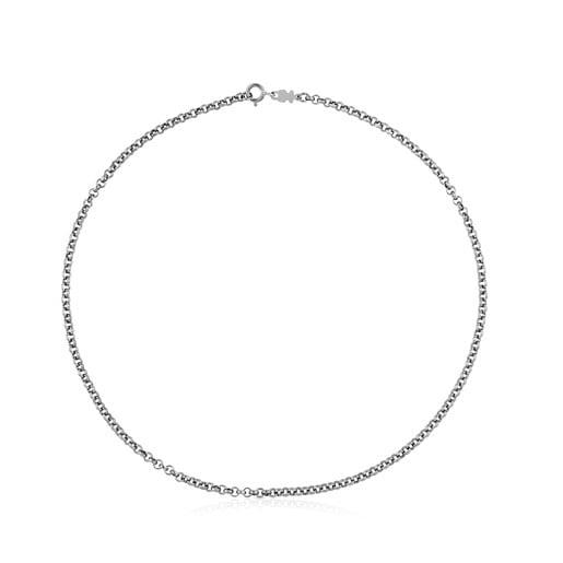 Gargantilla TOUS Chain de Plata pavonada con anillas redondas, 45cm.