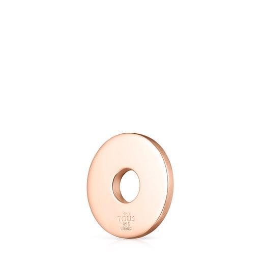 Colgante Tartan disco de Plata Vermeil rosa con Nácar
